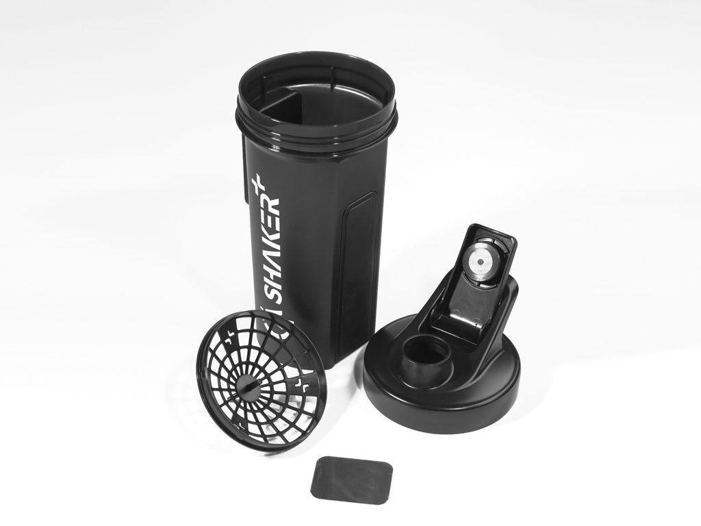 Einzelteile des GA Shakers
