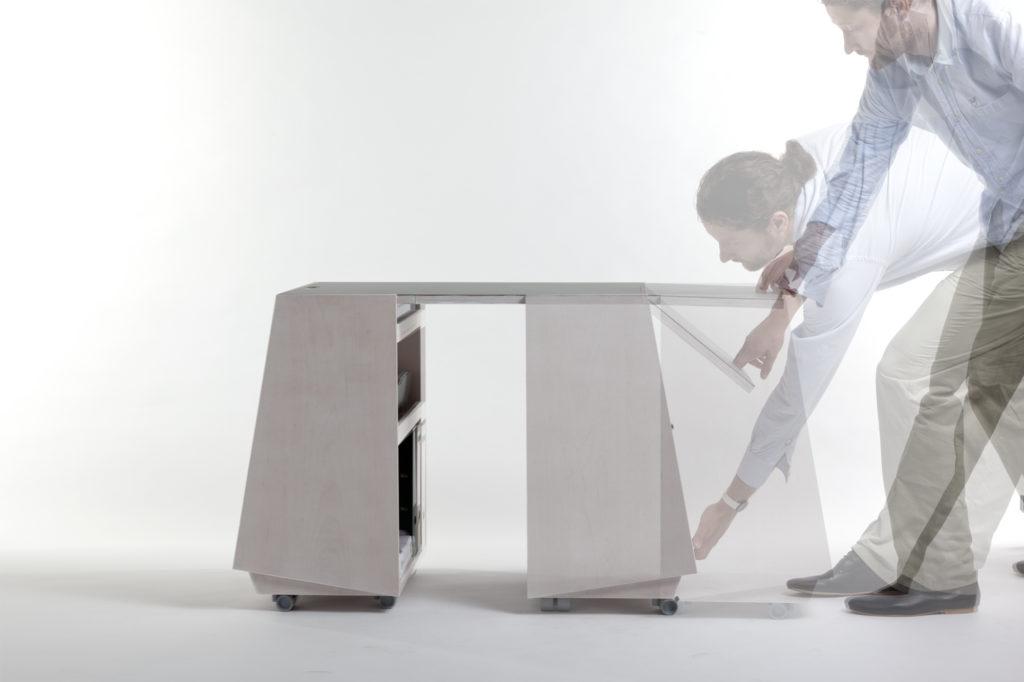 Prinzip Vergrößerung der Tischplatte