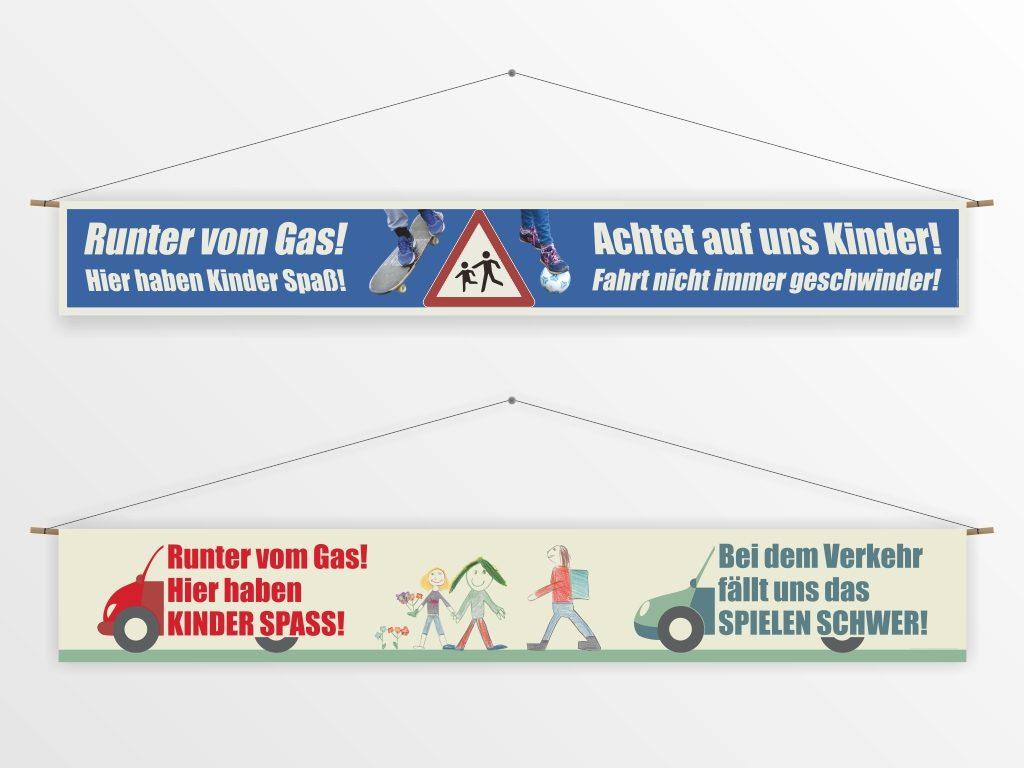 Banner für das Spielhaus Landaustraße