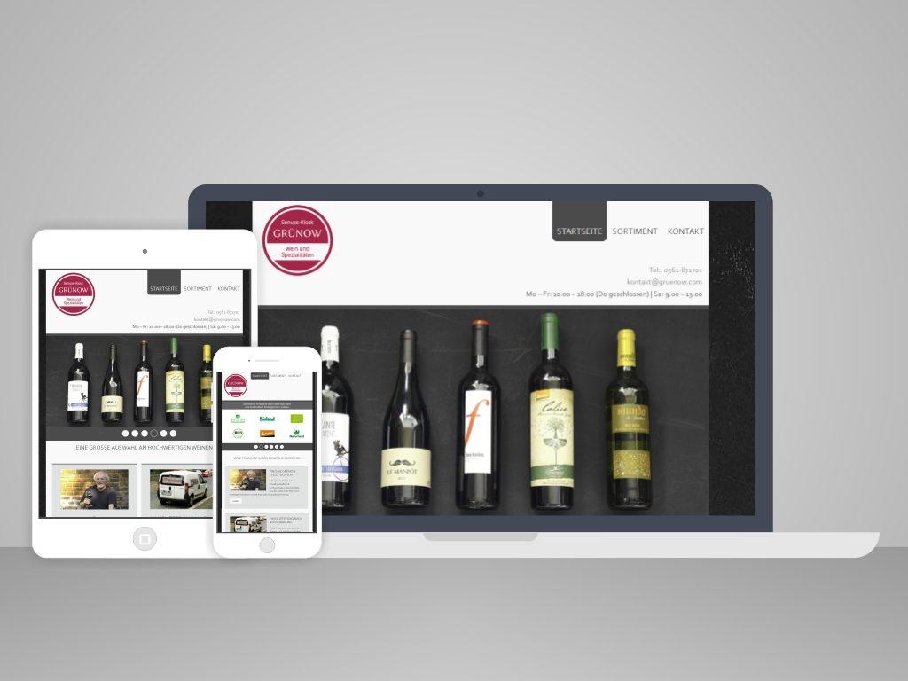 Website eines Feinkostladens in Harleshausen